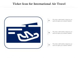 Ticket Icon For International Air Travel
