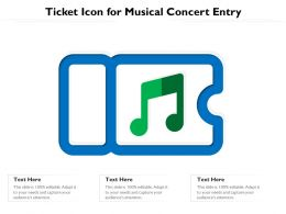 Ticket Icon For Musical Concert Entry