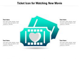 Ticket Icon For Watching New Movie