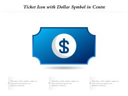 Ticket Icon With Dollar Symbol In Centre