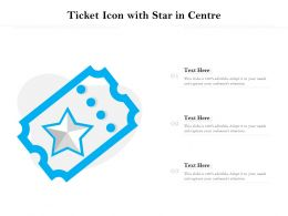 Ticket Icon With Star In Centre