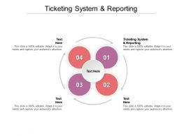 Ticketing System And Reporting Ppt Powerpoint Presentation File Example Topics Cpb