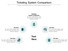 Ticketing System Comparison Ppt Powerpoint Presentation Infographics Example Cpb