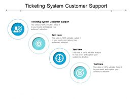Ticketing System Customer Support Ppt Powerpoint Presentation Gallery Deck Cpb