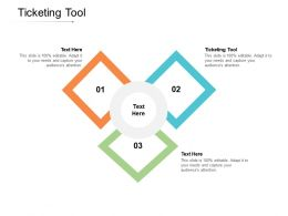 Ticketing Tool Ppt Powerpoint Presentation Infographic Template Icon Cpb