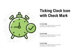 Ticking Clock Icon With Check Mark
