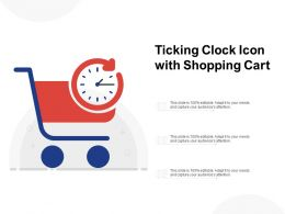 Ticking Clock Icon With Shopping Cart