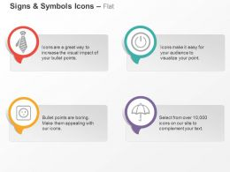 Tie Power Off Button Socket Umbrella Ppt Icons Graphics