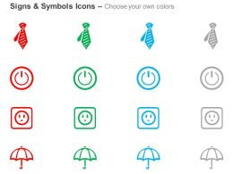 tie_power_off_button_socket_umbrella_ppt_icons_graphics_Slide02