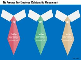 Tie Process For Employee Relationship Management Flat Powerpoint Design