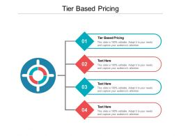 Tier Based Pricing Ppt Powerpoint Presentation Layouts Deck Cpb
