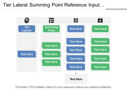 Tier Lateral Summing Point Reference Input Element Ideal Value