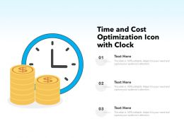 Time And Cost Optimization Icon With Clock