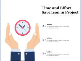 Time And Effort Save Icon In Project