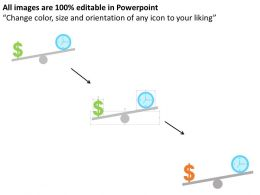 Time And Money Balance Flat Powerpoint Design