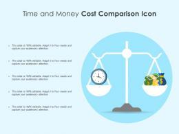 Time And Money Cost Comparison Icon