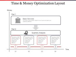Time And Money Optimization Layout Ppt Slide Design