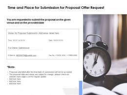 Time And Place For Submission For Proposal Offer Request Ppt Good