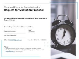 Time And Place For Submission For Request For Quotation Proposal Ppt Show
