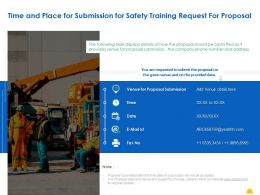 Time And Place For Submission For Safety Training Request For Proposal Ppt Powerpoint Presentation Show