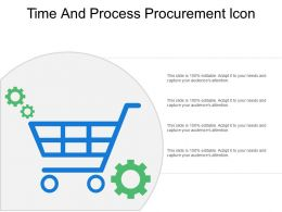 Time And Process Procurement Icon