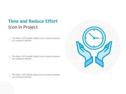 Time And Reduce Effort Icon In Project