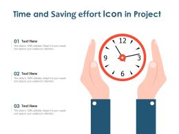 Time And Saving Effort Icon In Project
