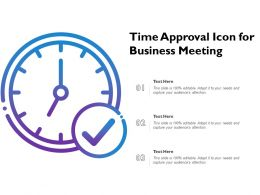 Time Approval Icon For Business Meeting