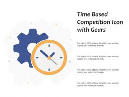 Time Based Competition Icon With Gears