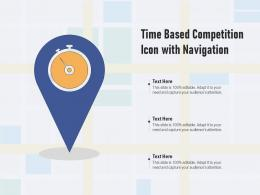 Time Based Competition Icon With Navigation