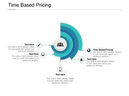 Time Based Pricing Ppt Powerpoint Presentation Inspiration Infographics Cpb