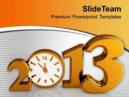 Time Concept With Clock New Year Celebration PowerPoint Templates PPT Themes And Graphics 0113