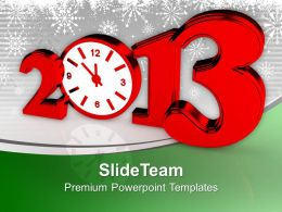 Time Concept With Clock New Year Red Powerpoint Templates Ppt Themes And Graphics 0113