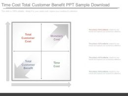 Time Cost Total Customer Benefit Ppt Sample Download