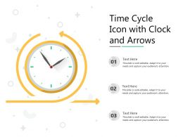 Time Cycle Icon With Clock And Arrows