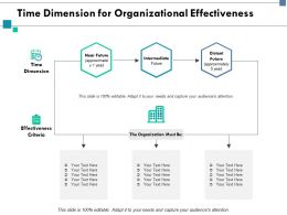 Time Dimension For Organizational Effectiveness Time Ppt Powerpoint Presentation Skills