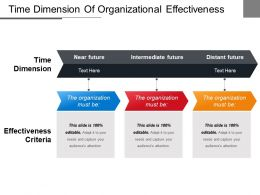 Time Dimension Of Organizational Effectiveness Ppt Example File