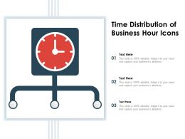 Time Distribution Of Business Hour Icons