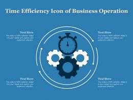 Time Efficiency Icon Of Business Operation