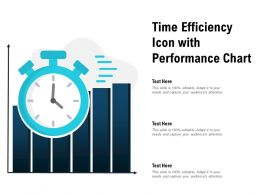 Time Efficiency Icon With Performance Chart