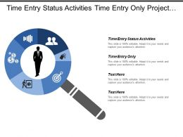 Time Entry Status Activities Time Entry Only Project Overview