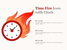 Time Fire Icon With Clock