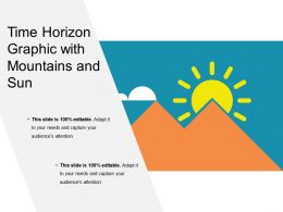 Time Horizon Graphic With Mountains And Sun