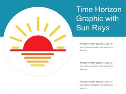 Time Horizon Graphic With Sun Rays