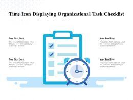 Time Icon Displaying Organizational Task Checklist