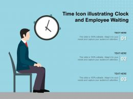 Time Icon Illustrating Clock And Employee Waiting