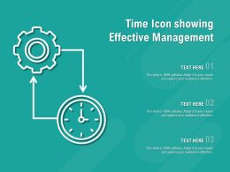 Time Icon Showing Effective Management