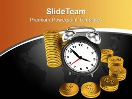Time Is Money Concept Global Business Powerpoint Templates Ppt Themes And Graphics 0113