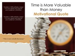 Time Is More Valuable Than Money Motivational Quote