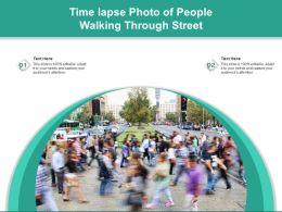 Time Lapse Photo Of People Walking Through Street